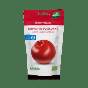 Luomu kuivattu puolukka Biokia