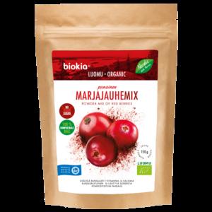 Luomu punainen marjajauhemix 150 g